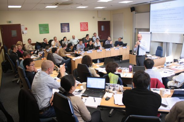 EIPM Executive Master Class in 2013: students and speaker Arjan Van Weele in class