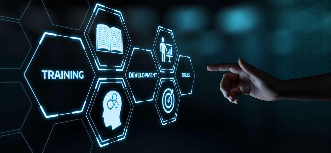 Training Webinar E-learning Skills Business Internet Technology Concept